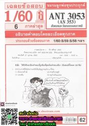 ANT3053 (AN353)  สังคมและวัฒนธรรมเกาหลี